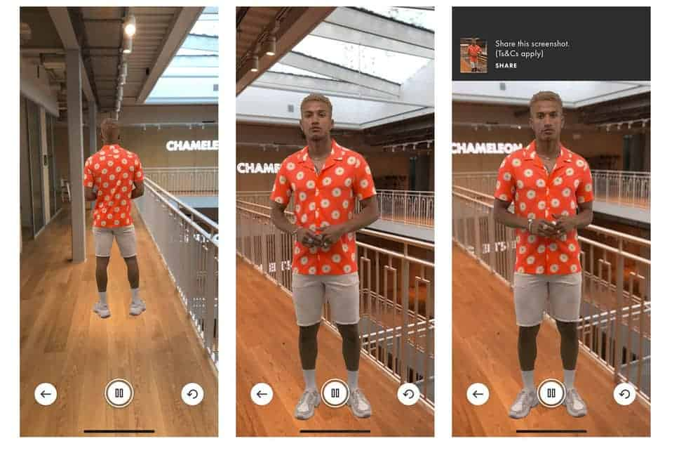 preview of ASOS AR marketing